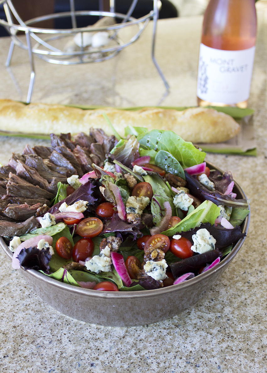 Steak Salad with Blue Cheese and Pickled Red Onion