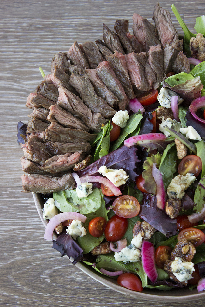 Steak Salad with Blue Cheese and Pickled Red Onion 3