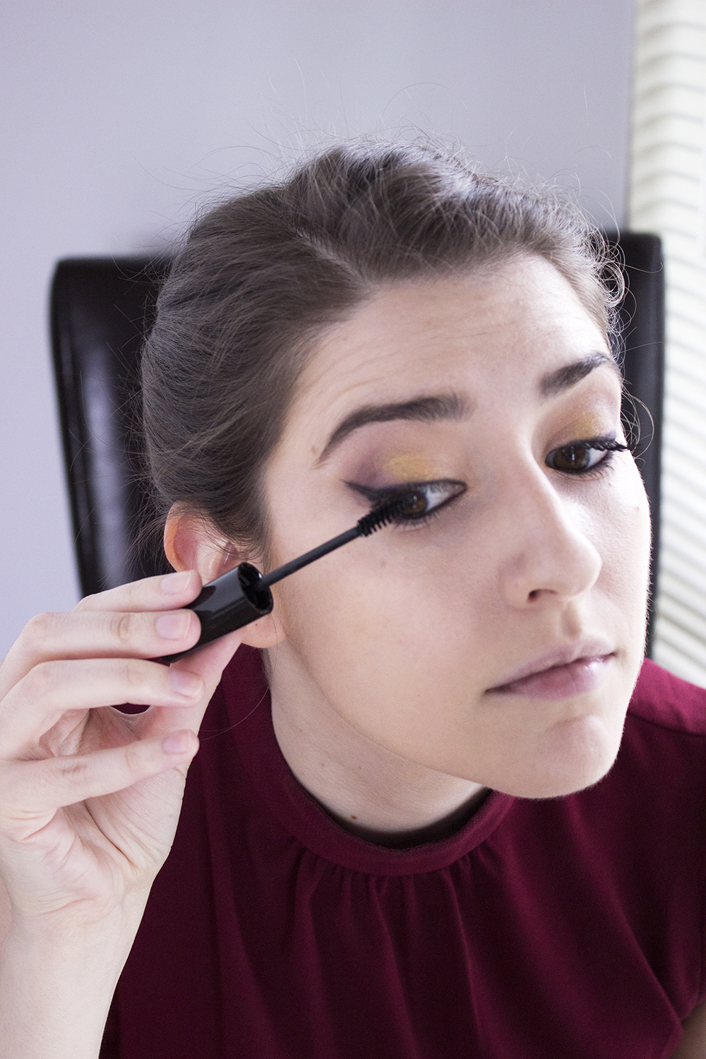 Sultry Summer Makeup Look with Bartell Drugs Step 5 Maybelline Great Last Blackest Black