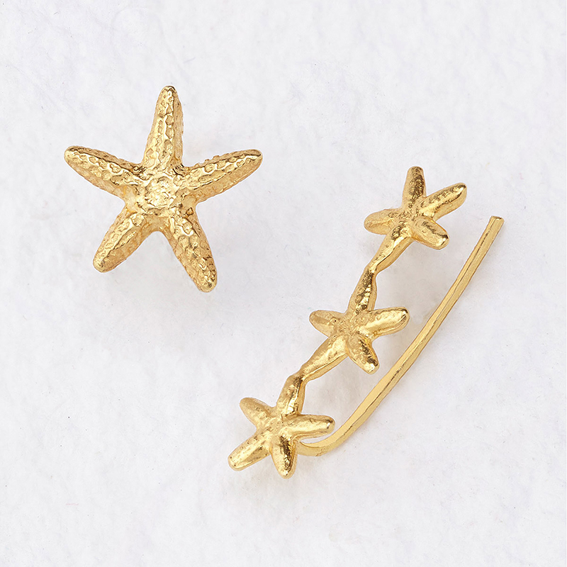 UncommonGoods My Lucky Stars Earrings created by Catherine Weitzman - UncommonGoods Jewelry Gift Guide for Gal Pals