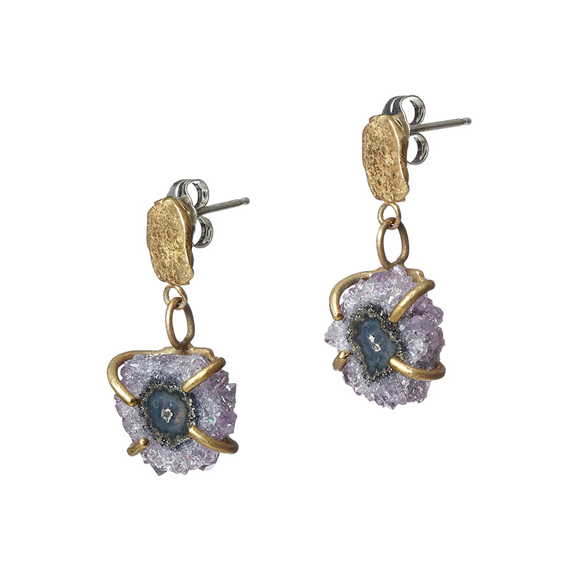 UncommonGoods Stalactite Slice Earrings created by Emilie Shapiro - UncommonGoods Jewelry Gift Guide for Gal Pals