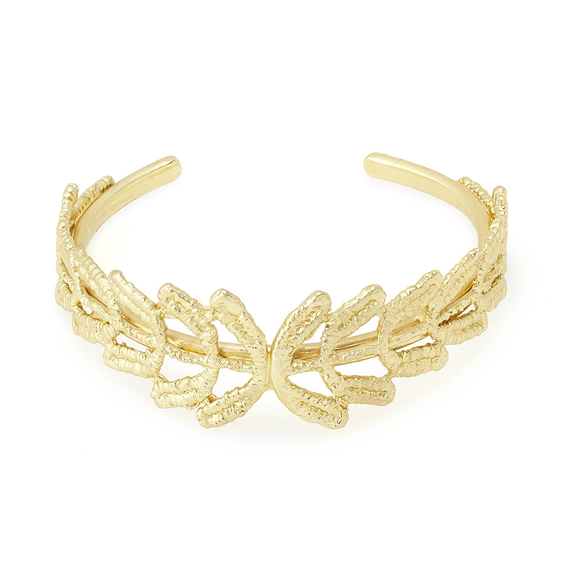 UncommonGoods Vine Gold Dipped Lace Bracelet created by Tulianna and Alejandra Garces - UncommonGoods Jewelry Gift Guide for Gal Pals