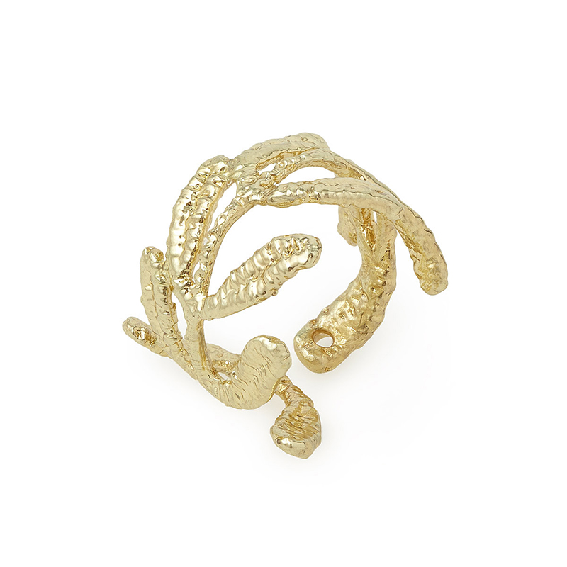 UncommonGoods Vine Gold Dipped Lace Ring created by Tulianna and Alejandra Garces - UncommonGoods Jewelry Gift Guide for Gal Pals