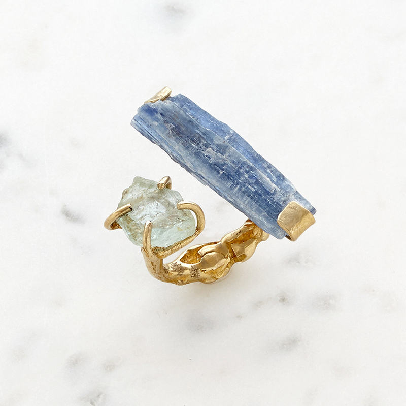 UncommonGoods Waterfall Ring created by Emilie Shapiro - UncommonGoods Jewelry Gift Guide for Gal Pals