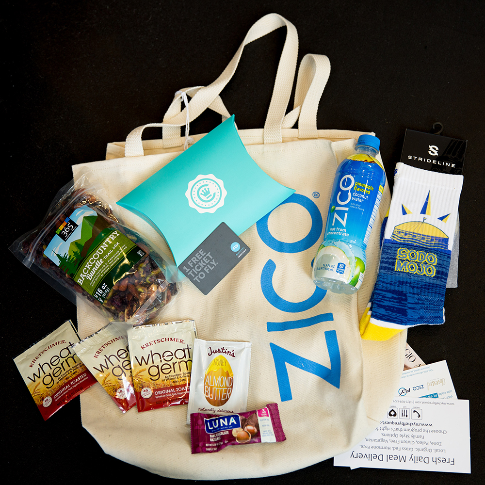 FlyWithZico swag bag - Fly with ZICO and My First Flywheel Experience