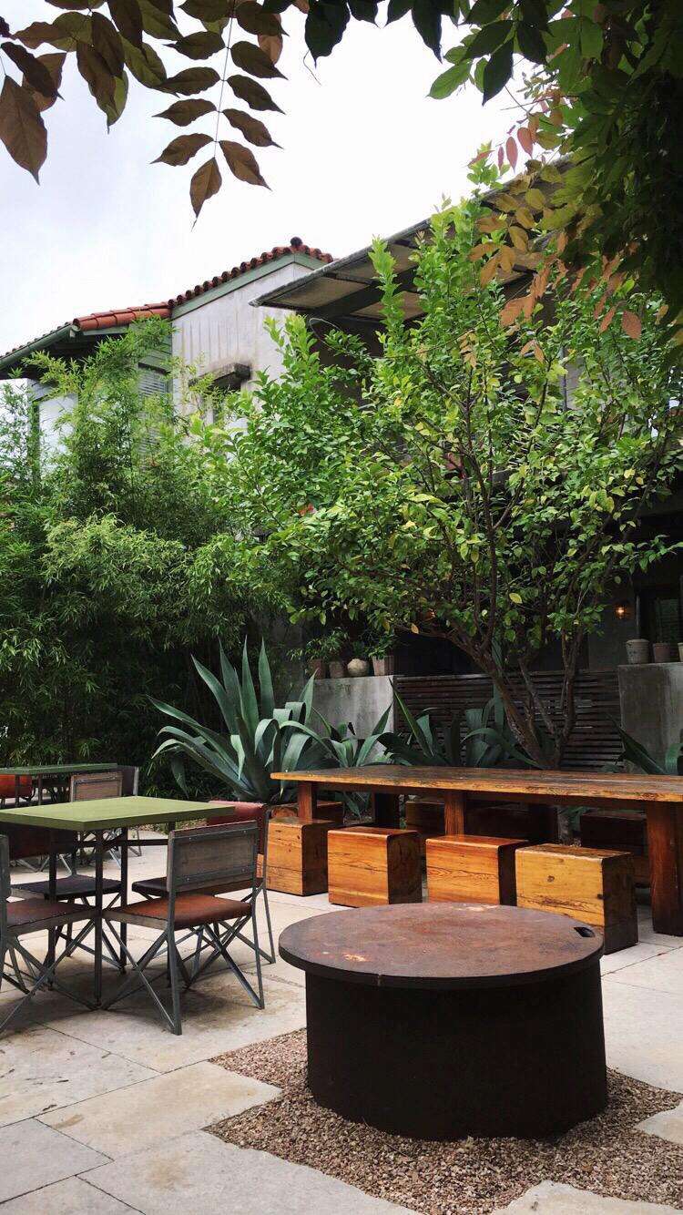 Hotel San Jose Review - The lounge at Hotel San Jose Austin, TX
