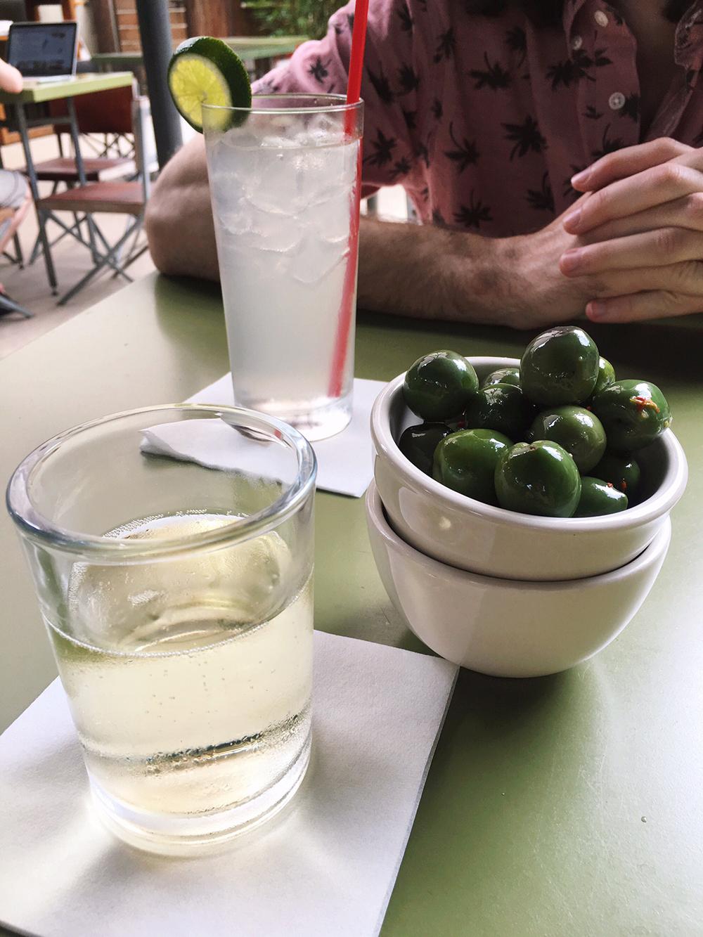 Hotel San Jose Review - Hotel San Jose lounge snacks and drinks Austin, TX