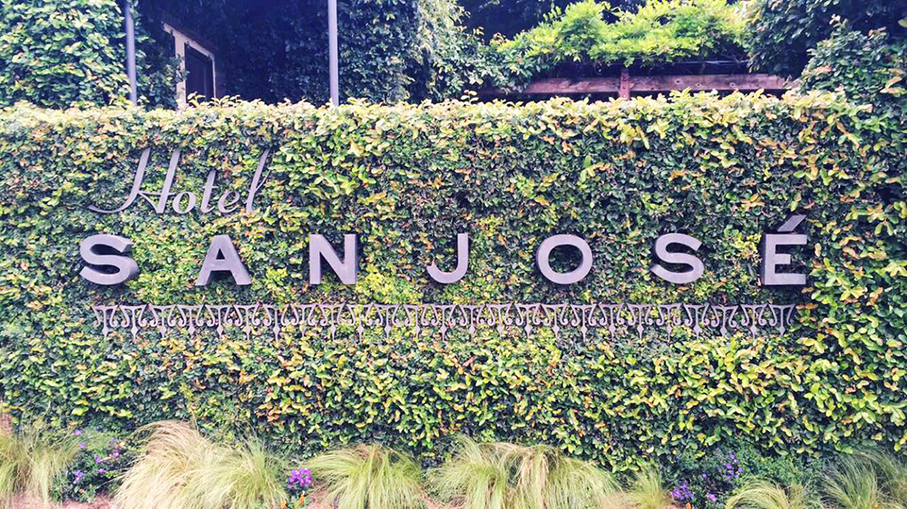 Hotel San Jose Review - Hotel San Jose sign Austin, TX