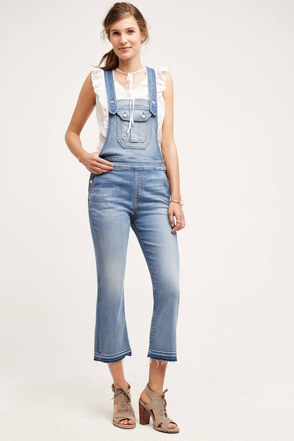 7 For All Mankind Cropped Boot Overalls - The Overall Trend
