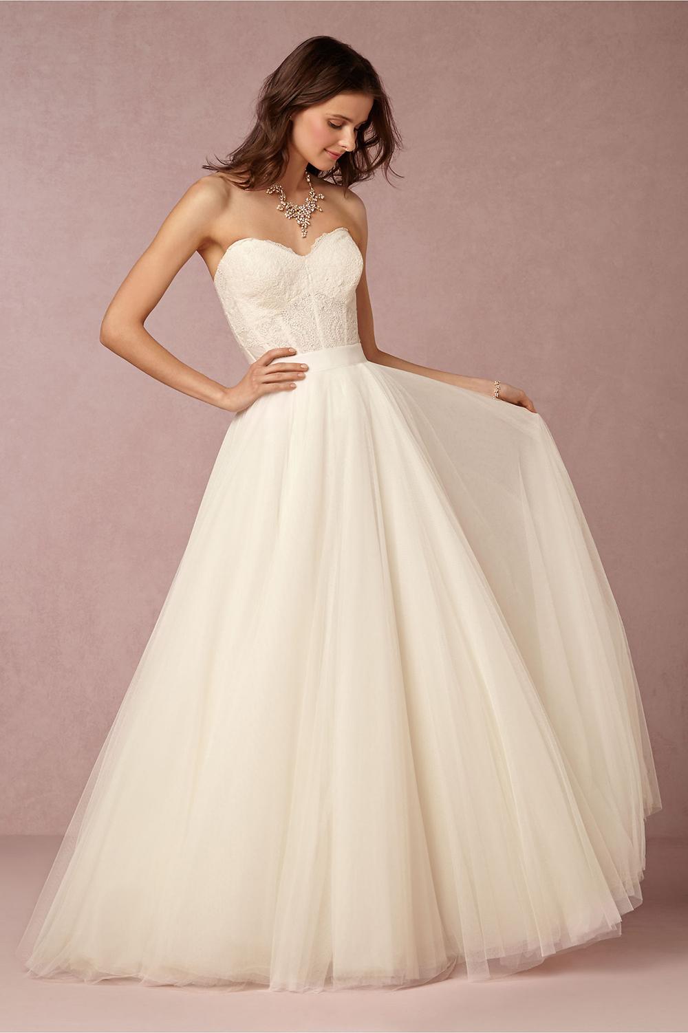 BHLDN Carina Corset & Ahsan Skirt - BHLDN Wedding Gowns
