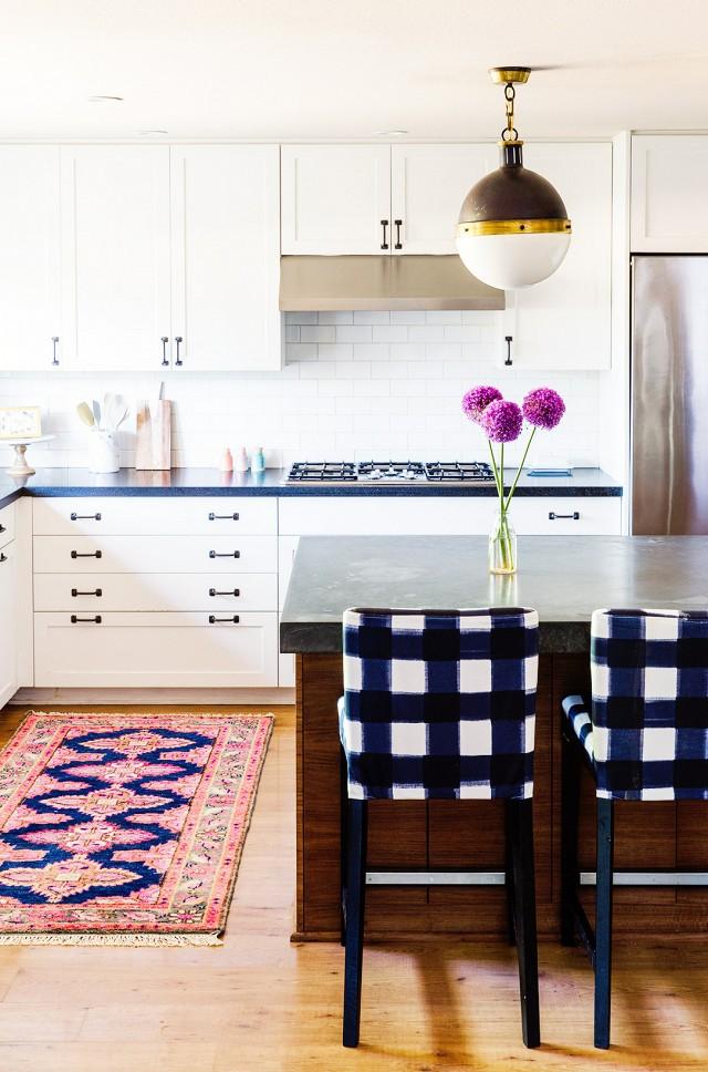 Home Tour- A Textile Designer's Preppy, Feminine Space | My Domaine - Pinterest Picks - Bohemian Rugs
