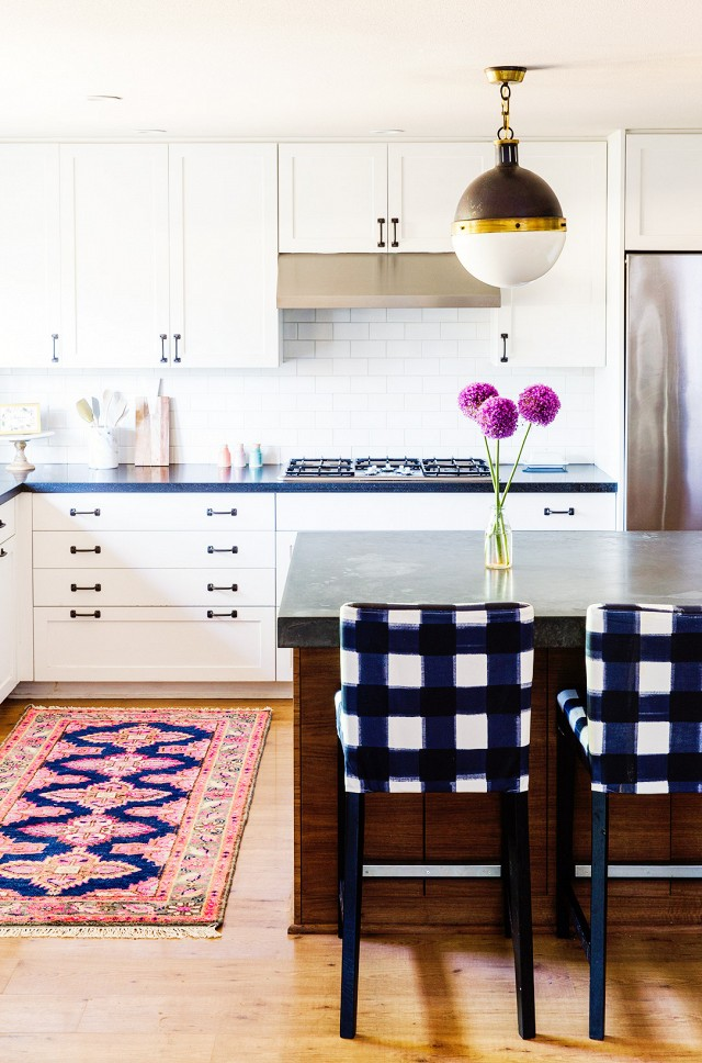 Home Tour- A Textile Designer's Preppy, Feminine Space | My Domaine - Pinterest Picks - Bohemian Rugs