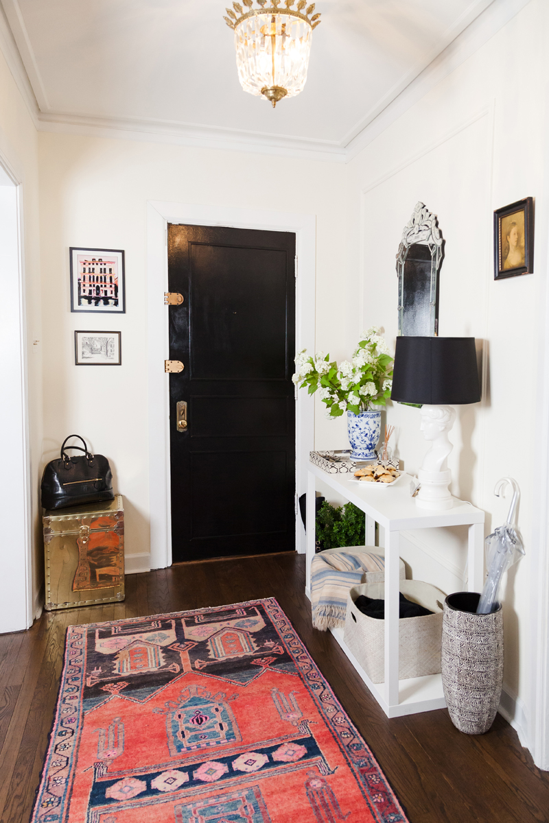 Yana Puaca's Chicago Home Tour | The Everygirl - Pinterest Picks - Bohemian Rugs