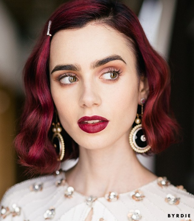 Exclusive: Lily Collins Shows Us How to Get Ultra-Pretty Rosebud Lips | Byrdie - 8 Romantic Hairstyles for Fall