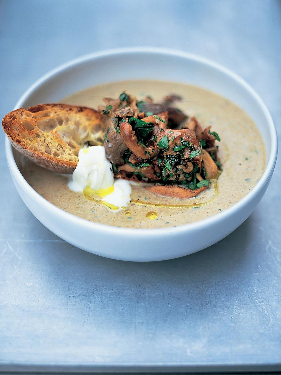 Mushroom Soup | Jamie Oliver - 10 Comforting Fall Soups