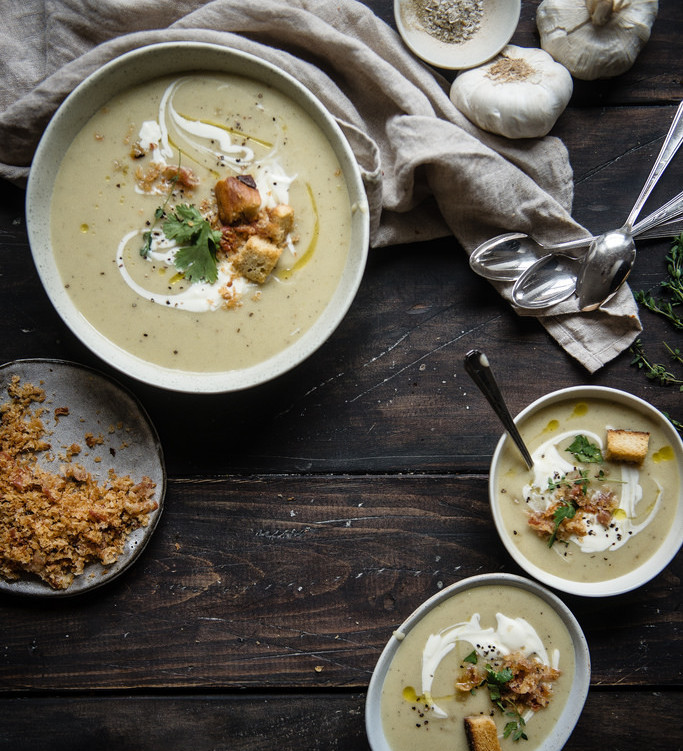 Potato, Garlic and Leek Soup | A Cup of Jo - 10 Comforting Fall Soups