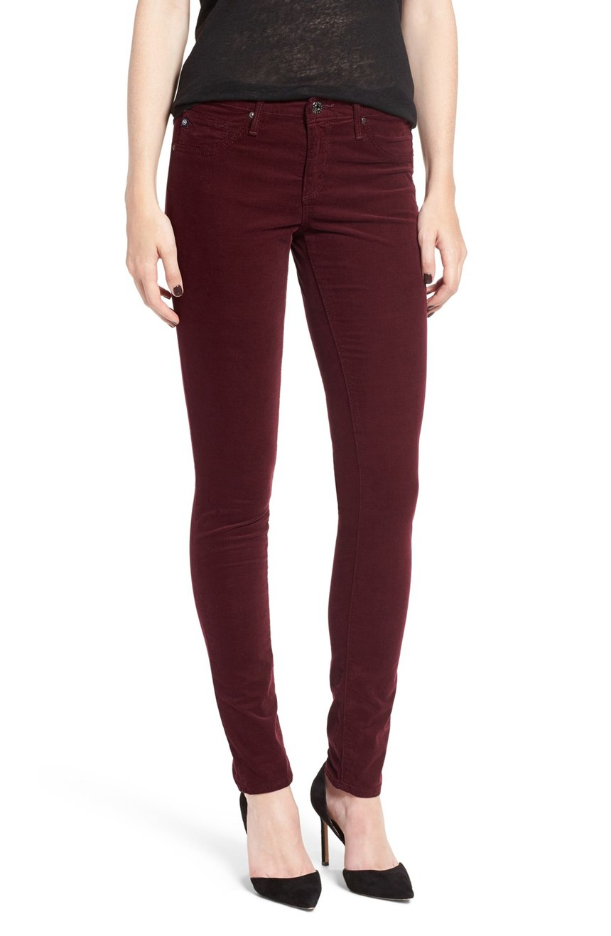AG Jeans Stretch Corduroy Pants - 10 Seductive Burgundy Pieces for Fall