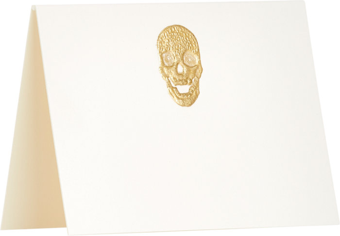 CONNOR Skull Folded Place Card Set - Spooktacular Halloween Home Decor