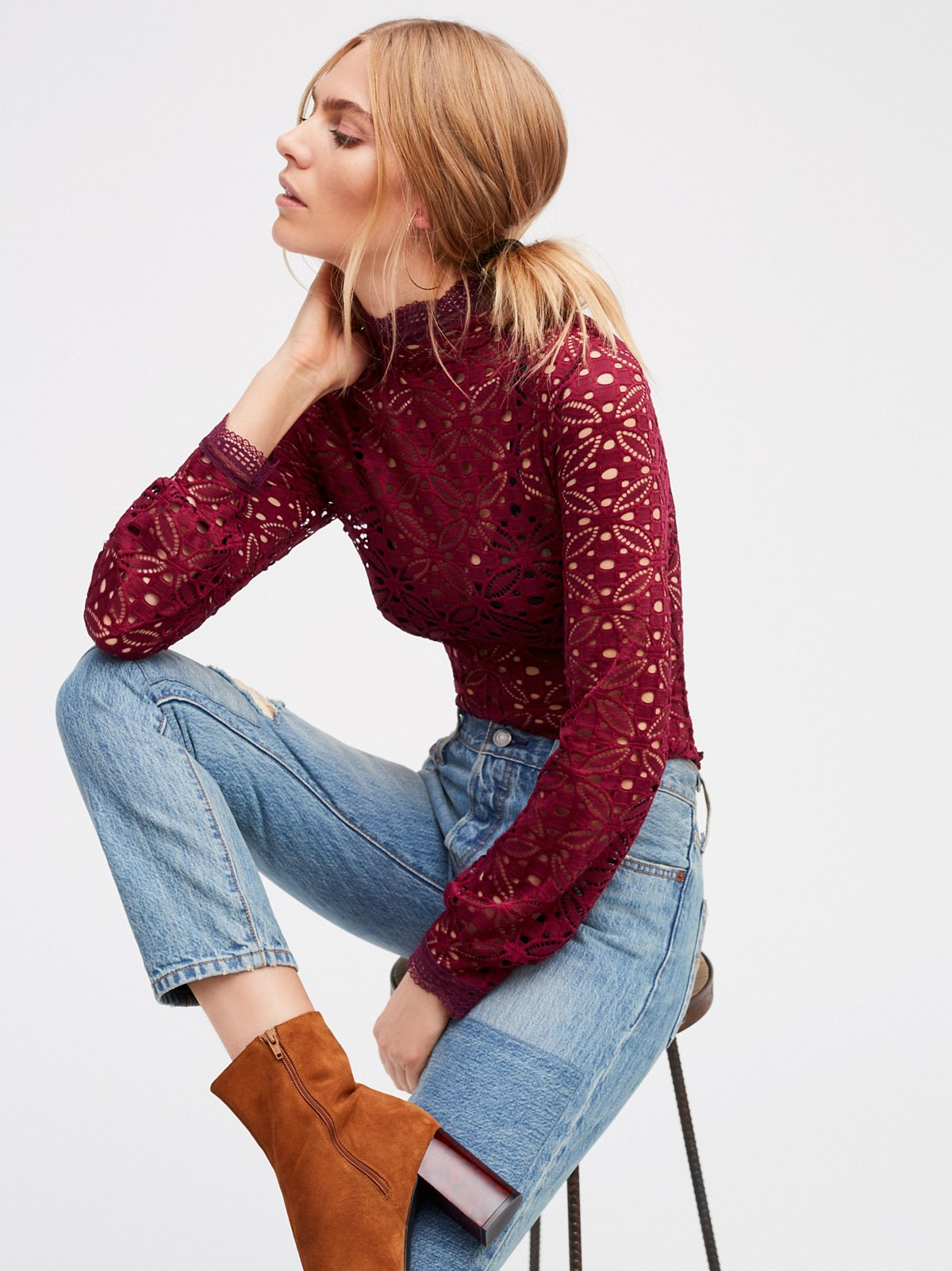 Free People High Neck Julie Layering Top - 10 Seductive Burgundy Pieces for Fall