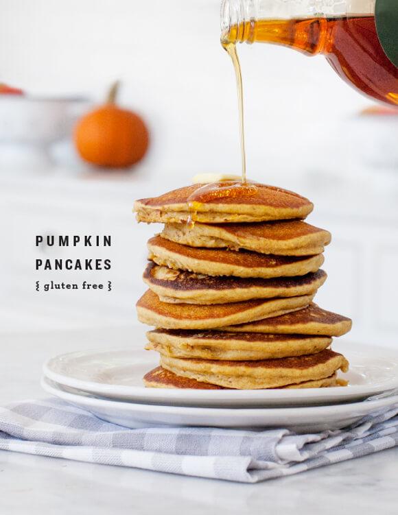 Gluten-free Pumpkin Pancakes   Love and Lemons - 10 Sweet Pumpkin Recipes