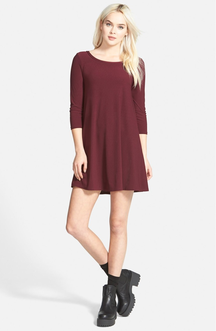 Leith Crepe Trapeze Dress - 10 Seductive Burgundy Pieces for Fall