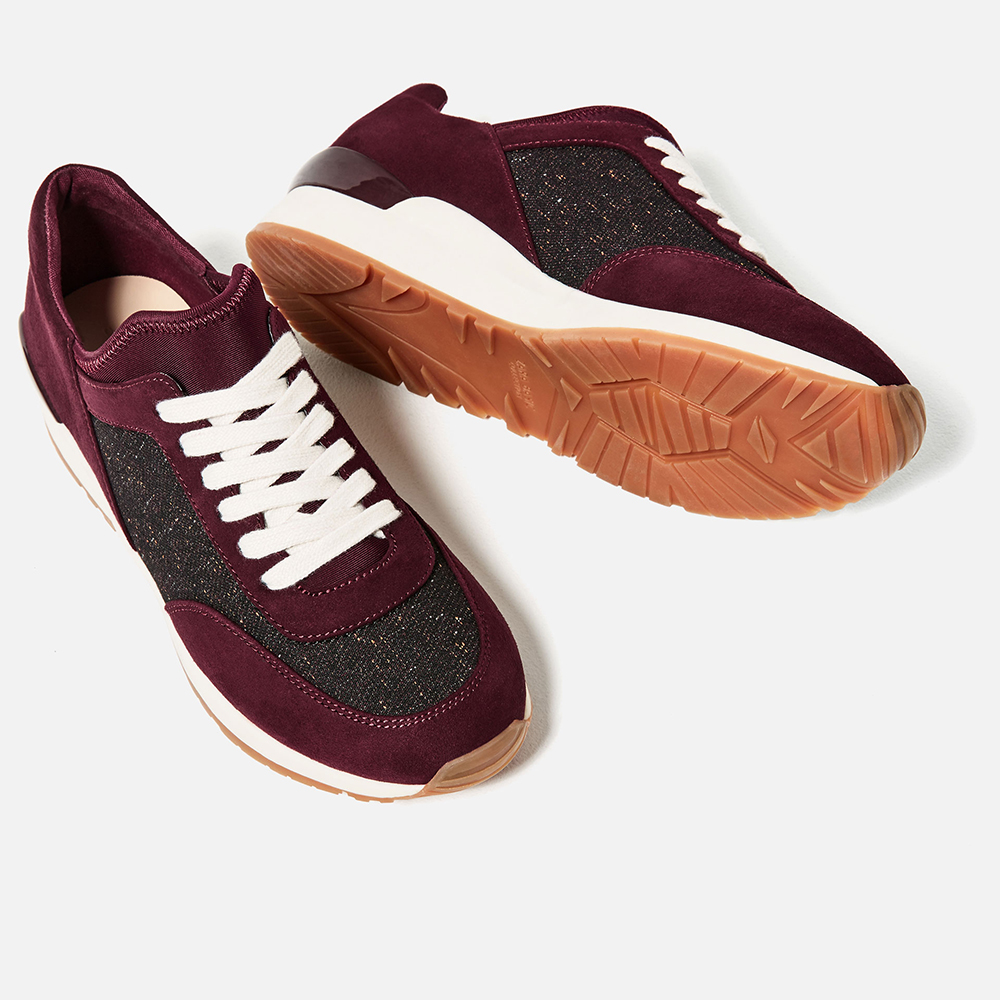 Zara Contrast Sneakers - 10 Seductive Burgundy Pieces for Fall