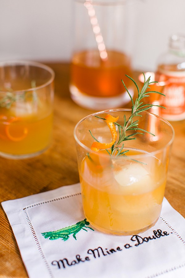 Spiced Orange & Rosemary Bourbon Cocktail | Waiting on Martha - 8 Refreshing Fall Cocktails