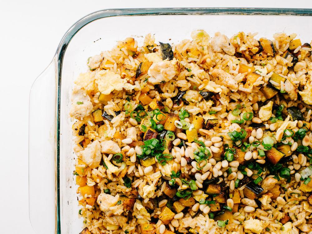 Turkey Fried Rice with Sriracha and Kabocha | Saveur - Pinterest Picks - 10 Yummy Thanksgiving Leftover Recipes