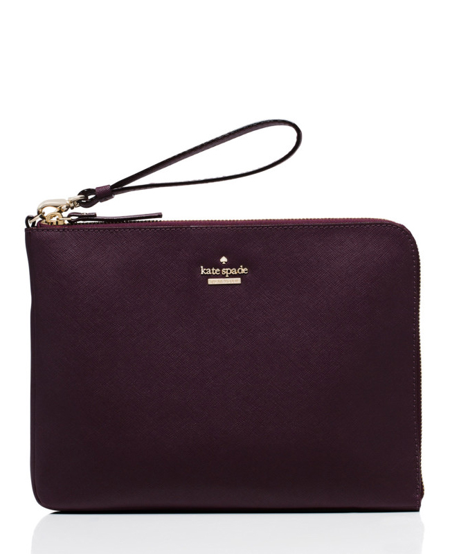 Everpurse x Kate Spade New York Quentin Wristlet Pouch in Mahogany - 8 Chic Tech Accessories