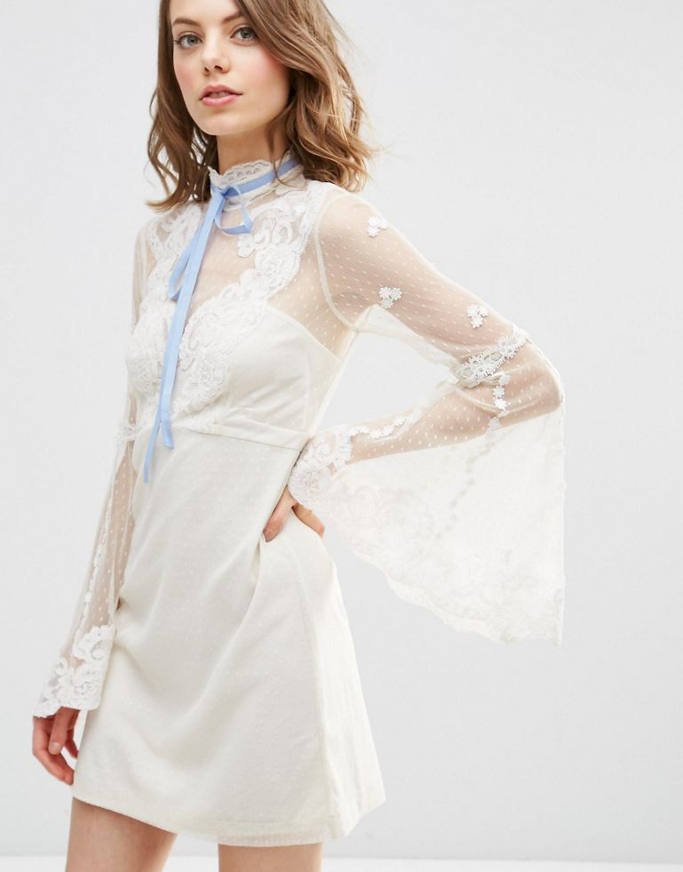 ASOS High Neck Edwardian Mini Babydoll Dress - Unwrap These 10 Holiday Dresses