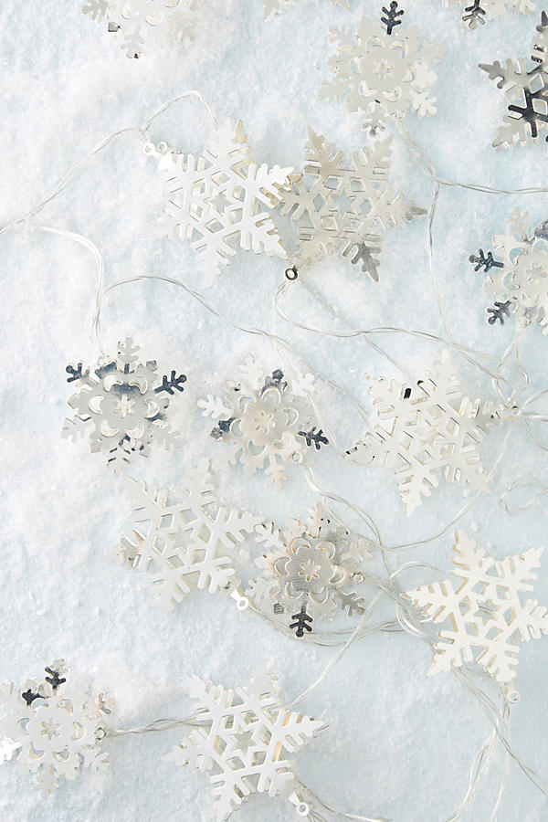 Anthropologie Snowflake String Lights - Deck Your Halls Christmas Ornaments and Home Decor