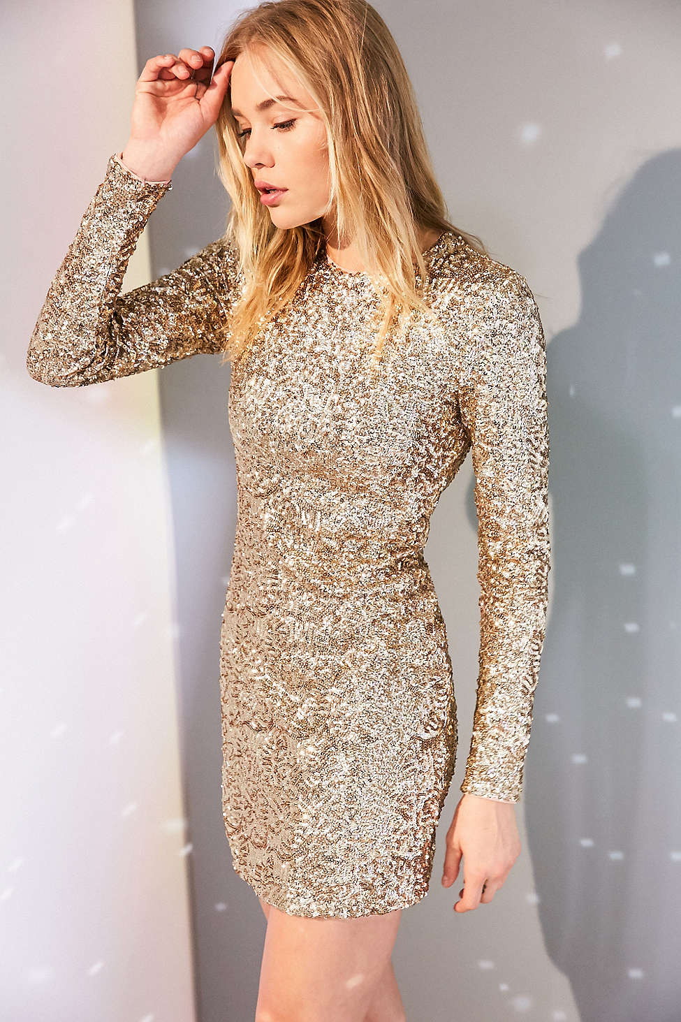 Kimchi Blue Firestarter Long-Sleeve Sequin Mini Dress - Unwrap These 10 Holiday Dresses