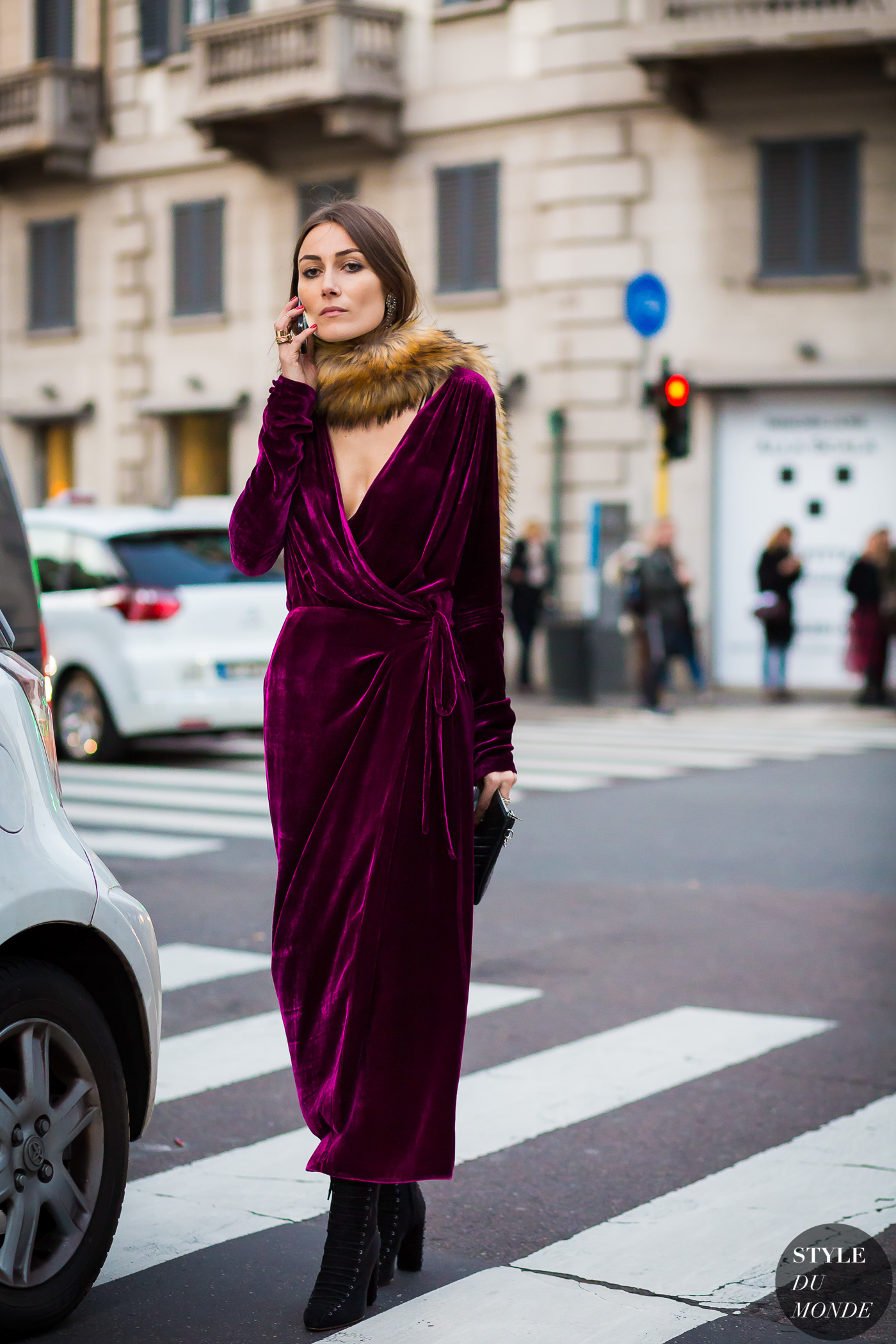 Milan Fashion Week FW 2016 Street Style: Giorgia Tordini and Gilda Ambrosio | Style Du Monde - It Girl Holiday Outfit Inspiration
