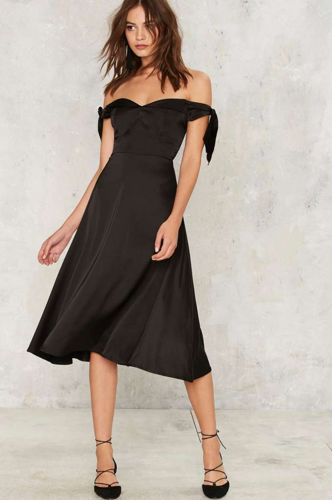 Nasty Gal Charli Satin Midi Dress - Unwrap These 10 Holiday Dresses