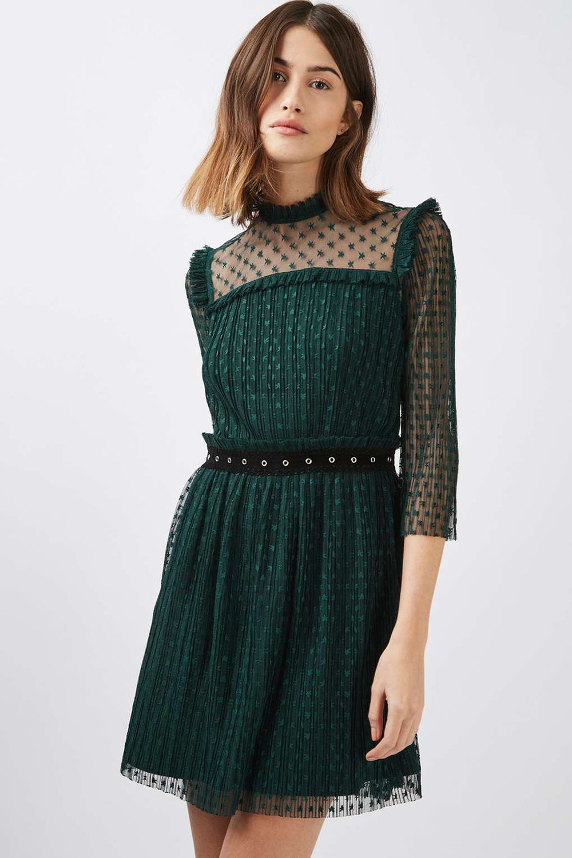 Topshop Plisse Star Mesh Skater Dress - Unwrap These 10 Holiday Dresses