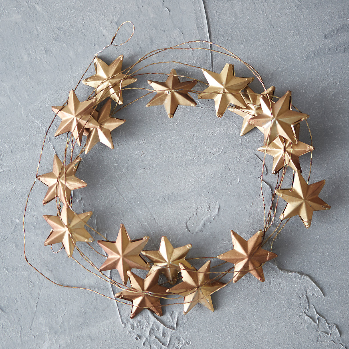 Terrain Winter Stars Garland - Deck Your Halls Christmas Ornaments and Home Decor