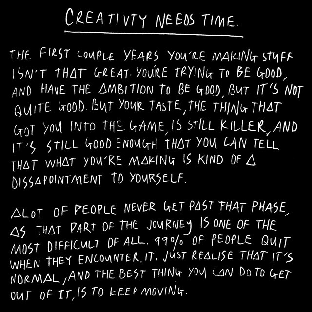 Creativity Needs Time