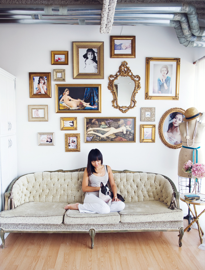French Couture Loft   Style Me Pretty Living - Pinterest Picks - Dreamy Gallery Walls - Gallery Wall Inspiration
