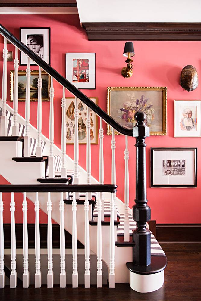 How to Make a Bold Entryway | Domino - Pinterest Picks - Dreamy Gallery Walls - Gallery Wall Inspiration
