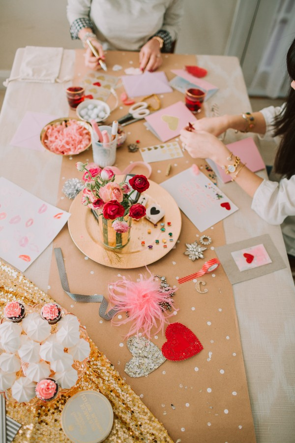 Card Making & Cocktails | Glitter Guide - Pinterest Picks - Galentine's Day Ideas