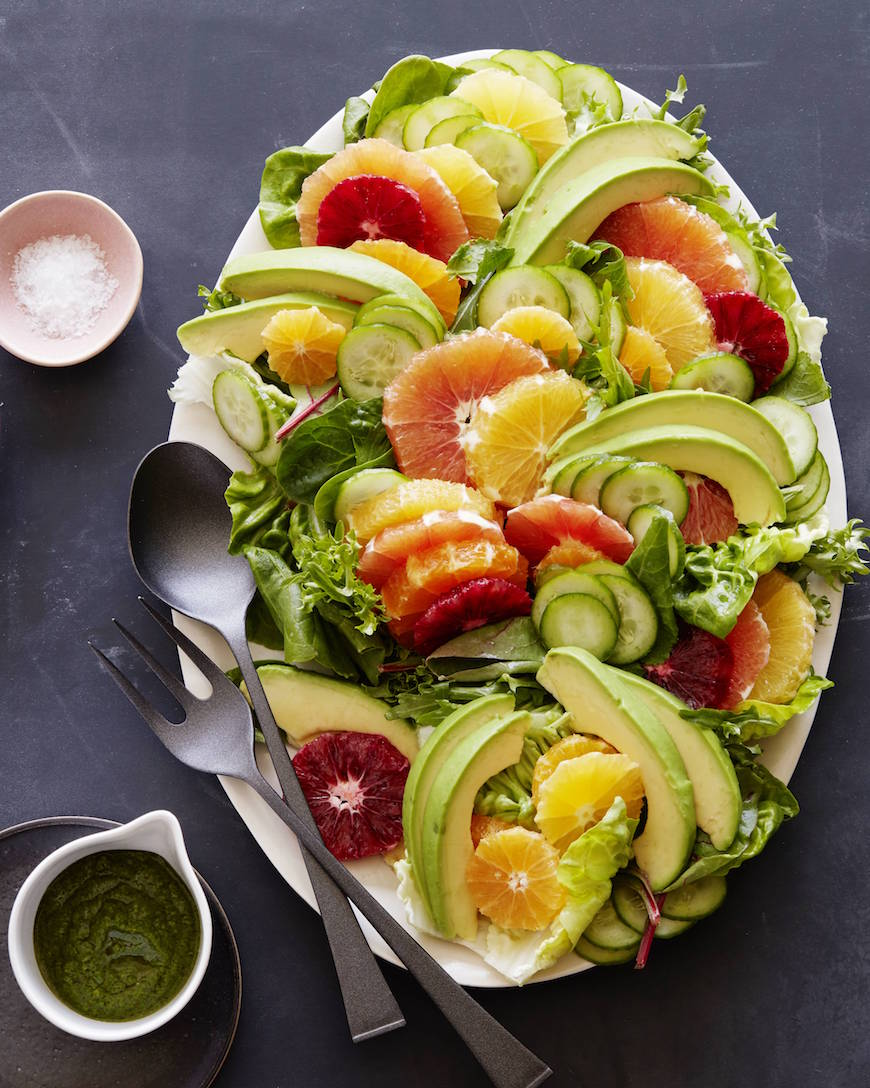 Citrus Avocado Salad | What's Gaby Cooking - Pinterest Picks - 10 Mouthwatering Winter Salads