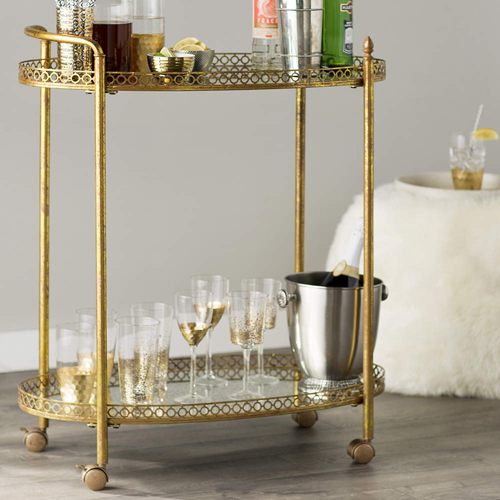 Joss & Main Yves Serving Cart - 10 Perfect Bar Carts for Entertaining