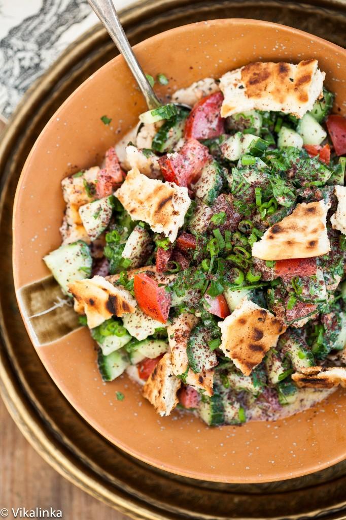 Middle Eastern Fattoush Salad | Vinkalinka - Pinterest Picks - 10 Mouthwatering Winter Salads
