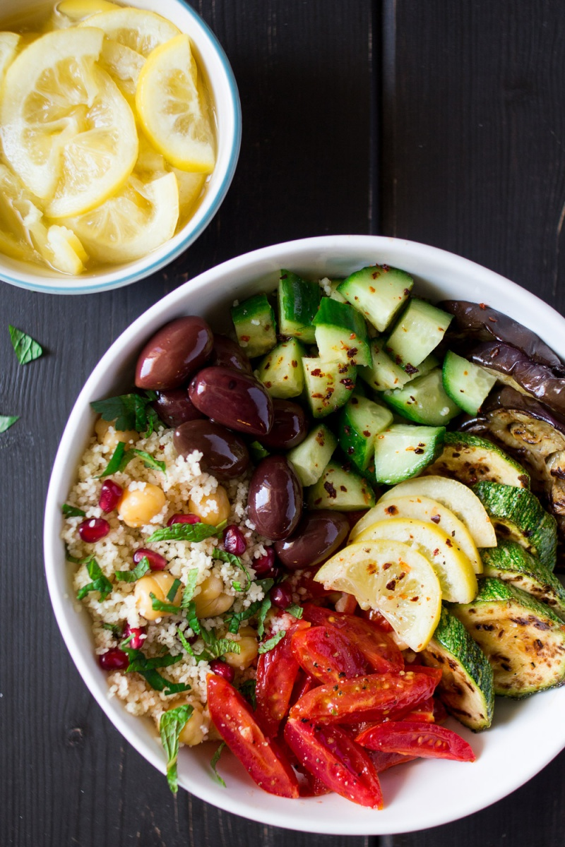 Moroccan Salad Bowl with Preserved Lemons | Lazy Cat Kitchen - Pinterest Picks - 10 Mouthwatering Winter Salads