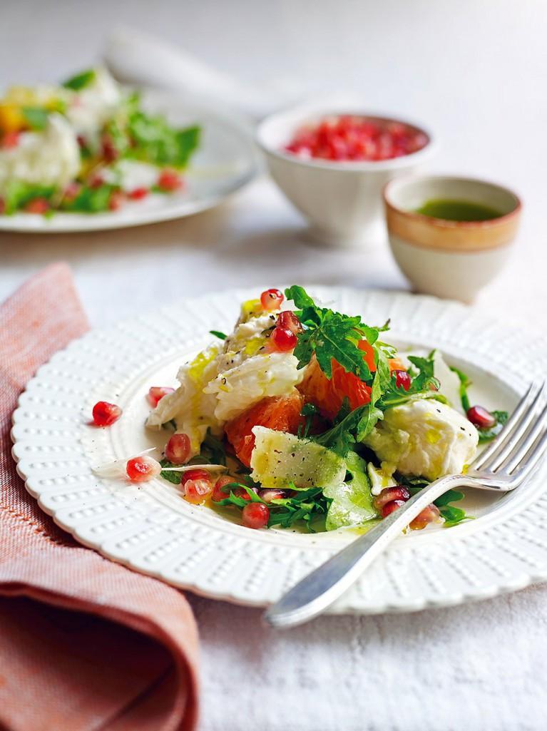Mozzarella & Winter Fruit Salad | Jamie Oliver - Pinterest Picks - 10 Mouthwatering Winter Salads