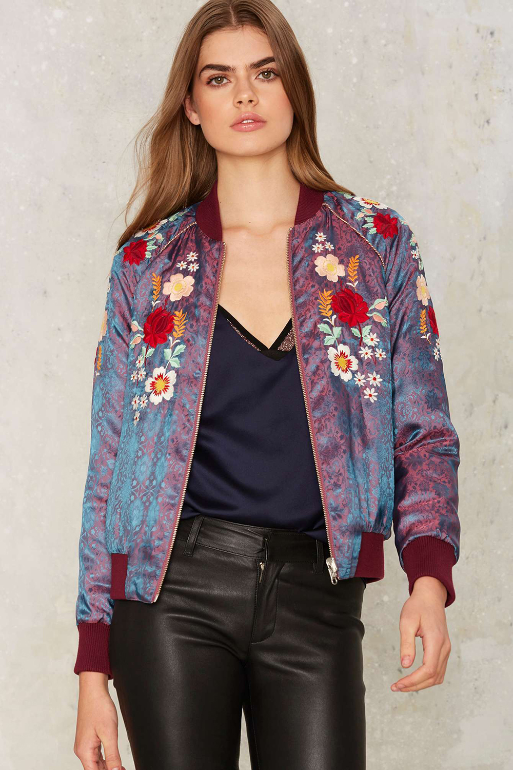 Nasty Gal Hear Me Roar Reversible Bomber Jacket | Valentine's Day Gift Guide