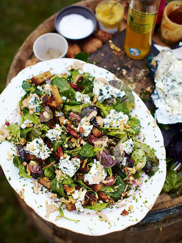 Roquefort Salad with Warm Croutons and Lardons | Jamie Oliver - Pinterest Picks - 10 Mouthwatering Winter Salads
