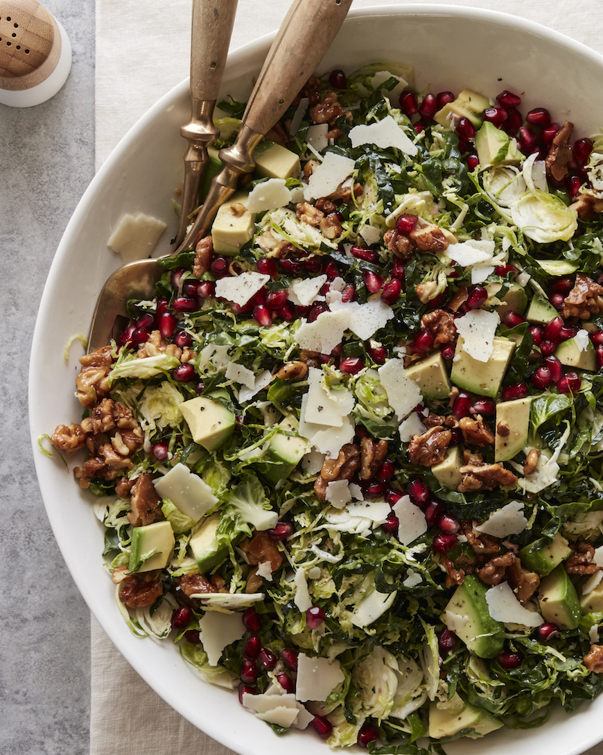 Shredded Brussels Sprouts Salad | What's Gaby Cooking - Pinterest Picks - 10 Mouthwatering Winter Salads