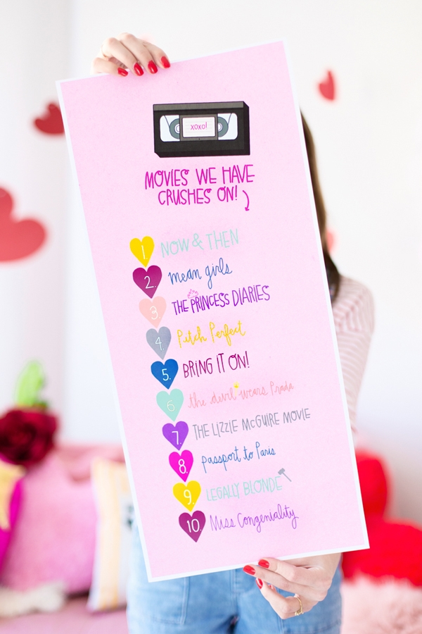 Throwback! | A Galentine's Day Slumber Party! (+ Free Printables!!) | Studio DIY - Pinterest Picks - Galentine's Day Ideas
