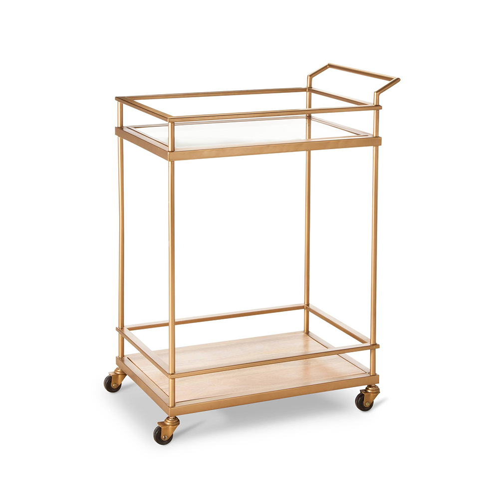 Wood & Glass Gold Finish Bar Cart - Threshold™ - 10 Perfect Bar Carts for Entertaining